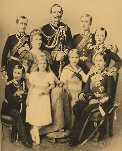 Wilhelm with his family