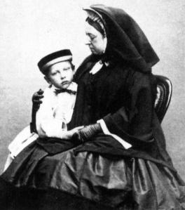 Wilhelm with his grandmother, Queen Victoria in 184