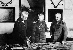 Wilhelm with von Hinderburg and Ludendorff