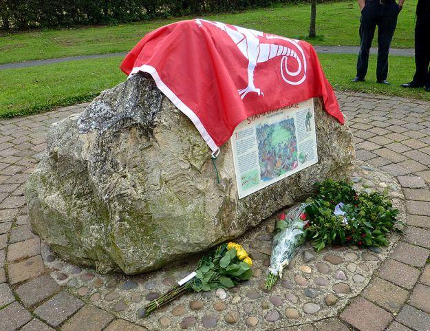 Stamford Bridge battlefield memorial near Whiterose Drive