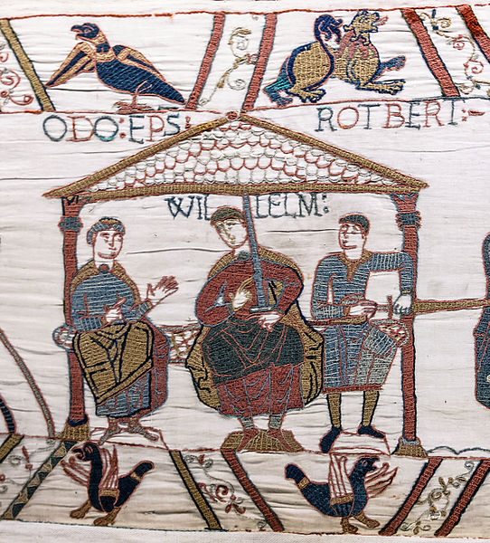 Herleva's three sons William, Odo and Robert.  As depicted in the Bayeux tapestry