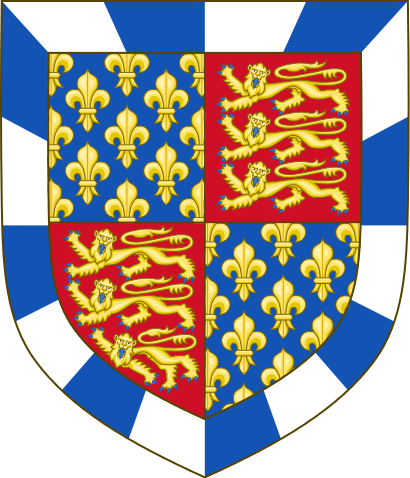 Arms of John Beaufort, 1st Earl of Somerset, Edmund's father