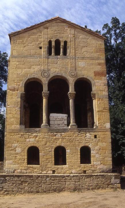 Santa María del Naranco, at the capital of Oviedo, originally a recreational palace of Ramiro's, then a church.