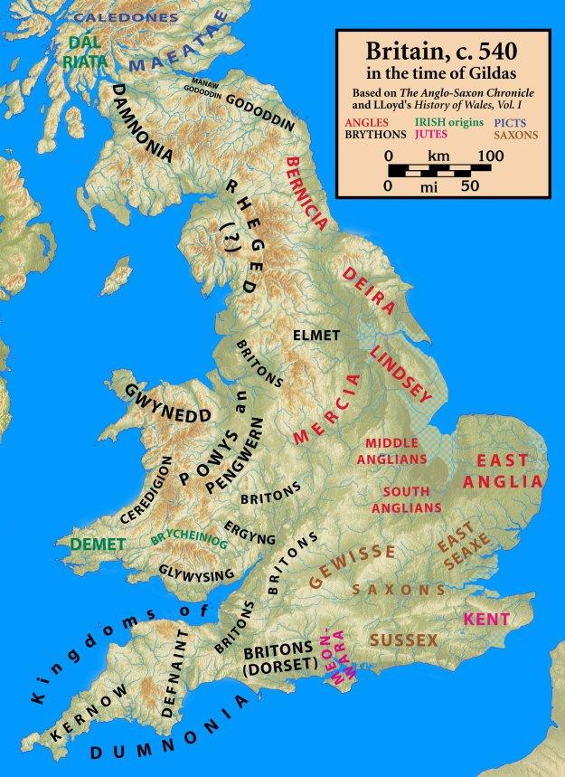 Map at Gildas time