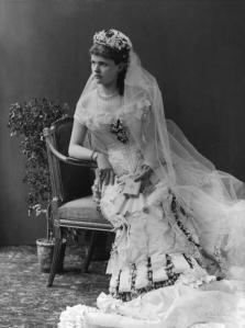 Helena, Duchess of Albany on her wedding day