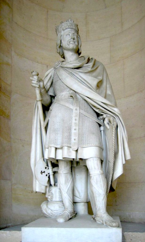The statue of Charles Martel at the Palace of Versailles