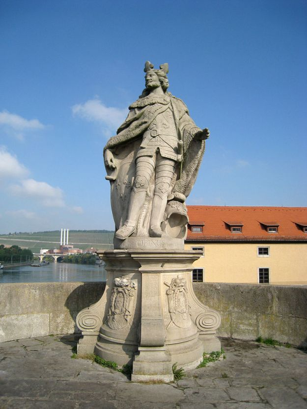 A statue of Pepin the Younger in Wurzburg